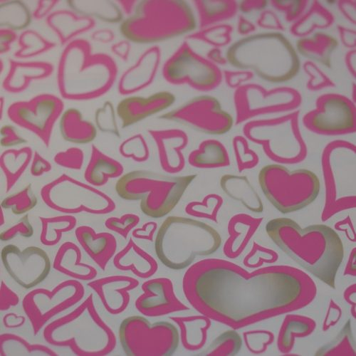 Pink hearts 50cm