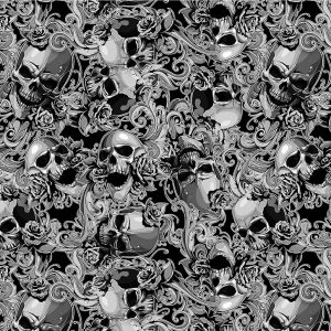 skulls and roses #2