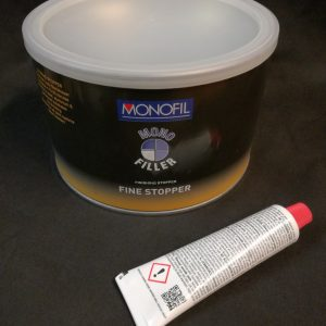 Fine stopper Filler 1l kit including hardener